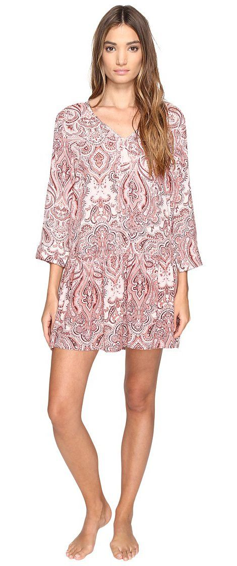 Lucky Brand Sleep Dress (Damask Paisley) Women's Pajama - Lucky Brand, Sleep Dress, 2531320-690, Apparel Top Sleepwear, Sleepwear, Top, Apparel, Clothes Clothing, Gift - Outfit Ideas And Street Style 2017