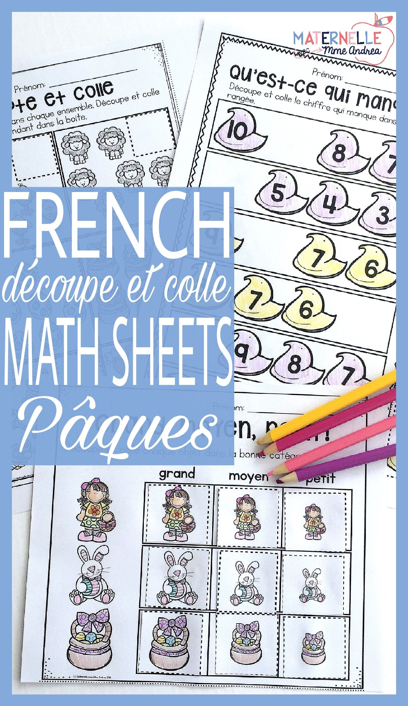 Pin On Paques En Maternelle