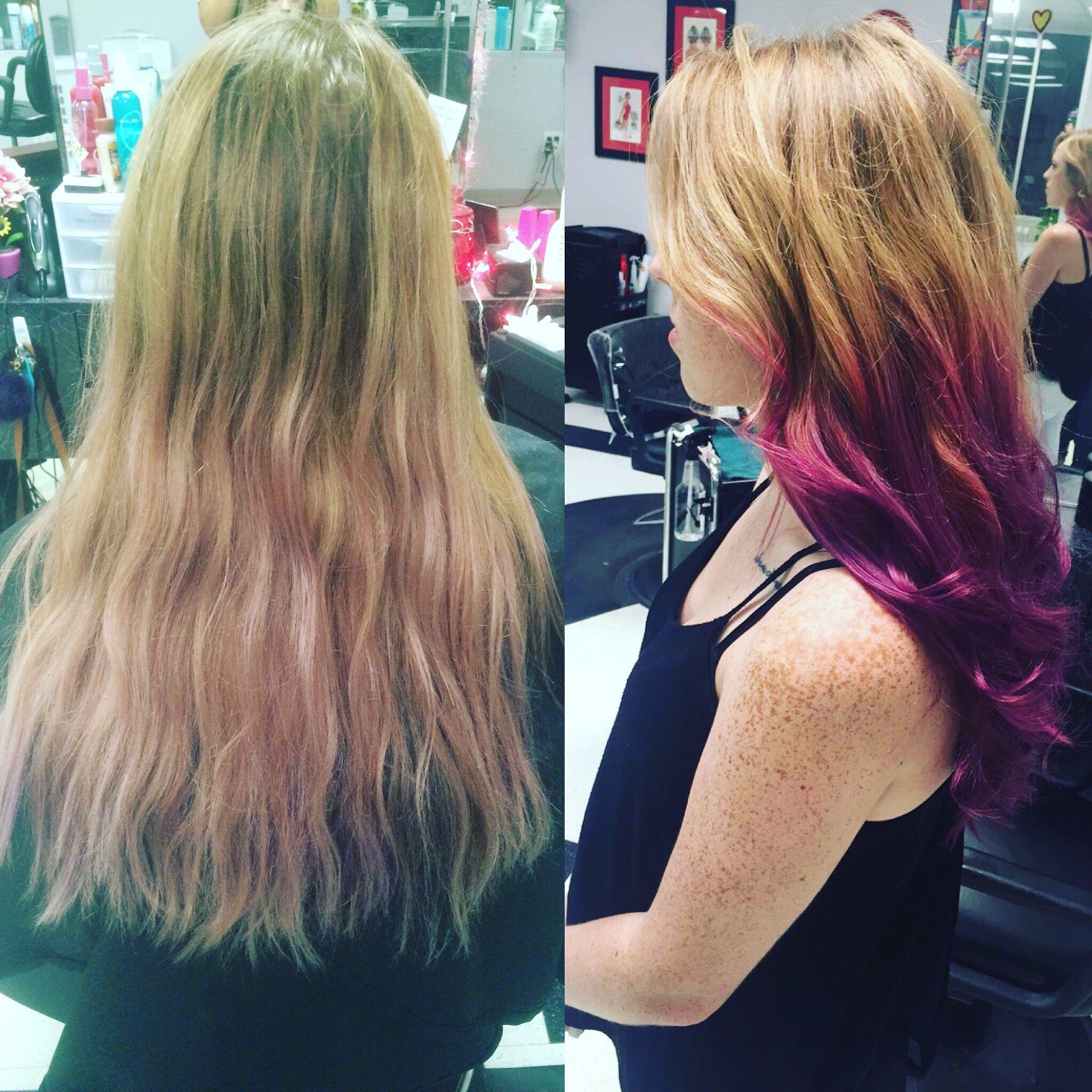 Purple Balayage Pravana Blonde Hair Color Ideas Purple Hair