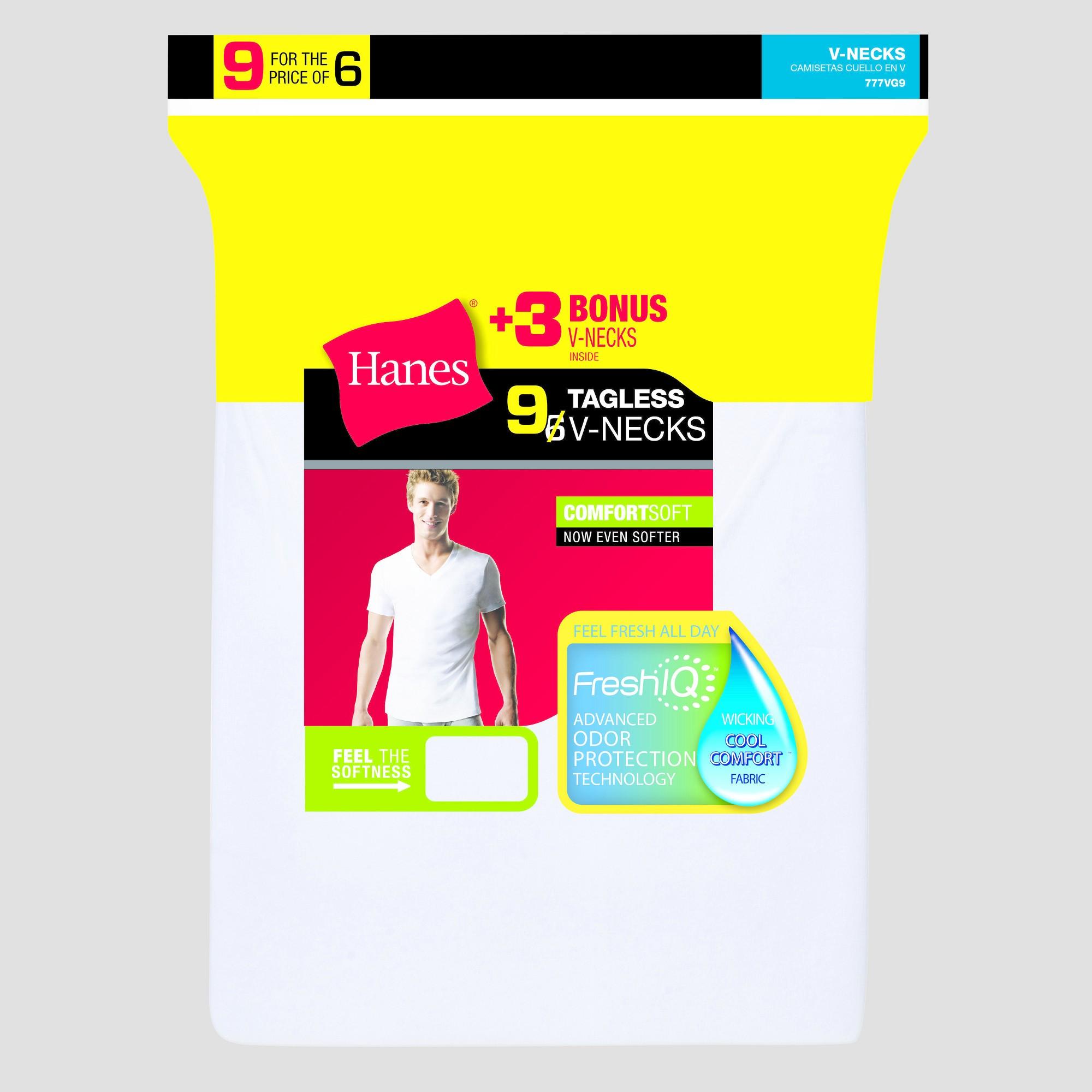 d8b029e0d5bd Hanes Men's 6pk +3 Free V-Neck Undershirts - White XL | Products ...