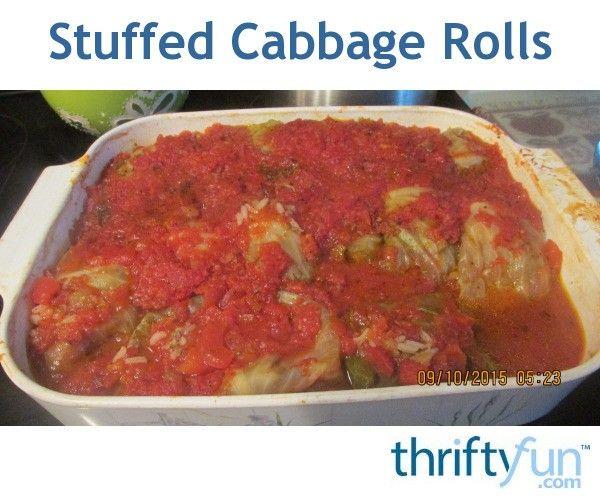Stuffed Cabbage Rolls (Galumpkis) Recipe #seasonedricerecipes