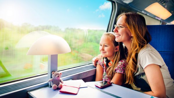 Here's a helpful secret: you can get to Florida by train, and take your car along too!