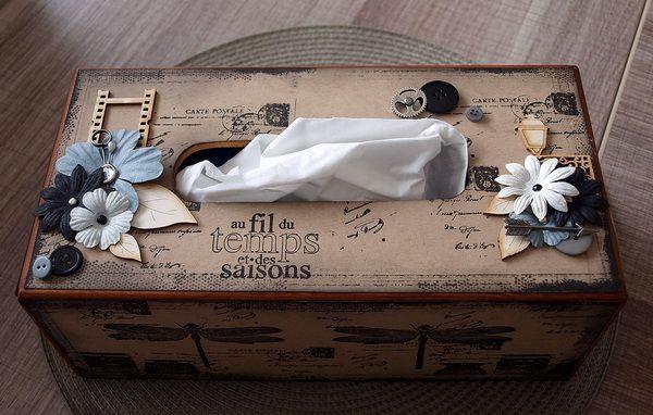 boite mouchoirs bo te mouchoir pinterest mouchoirs boite et scrap. Black Bedroom Furniture Sets. Home Design Ideas