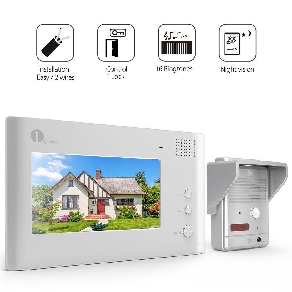 Video Door Phone Doorbell Home Intercom Wired Video Door HD Camera 7 ...