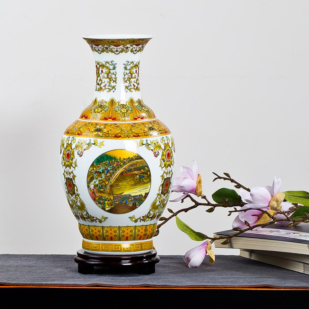 New Chinese Style Classical Porcelain Flower Vase Home Decoration ...