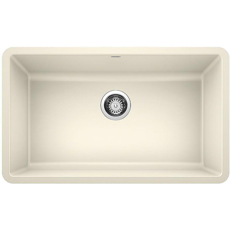 Blanco 442535 Biscuit Precis 30 Undermount Single Basin Silgranit Kitchen Sink Undermount Kitchen Sinks Sink Kitchen Sink
