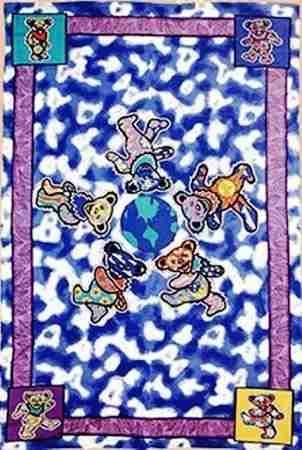Good Grateful Dead   Bears Around The World Tapestry This Grateful Dead Tapestry  Has The Dancing Bears Design Inspirations