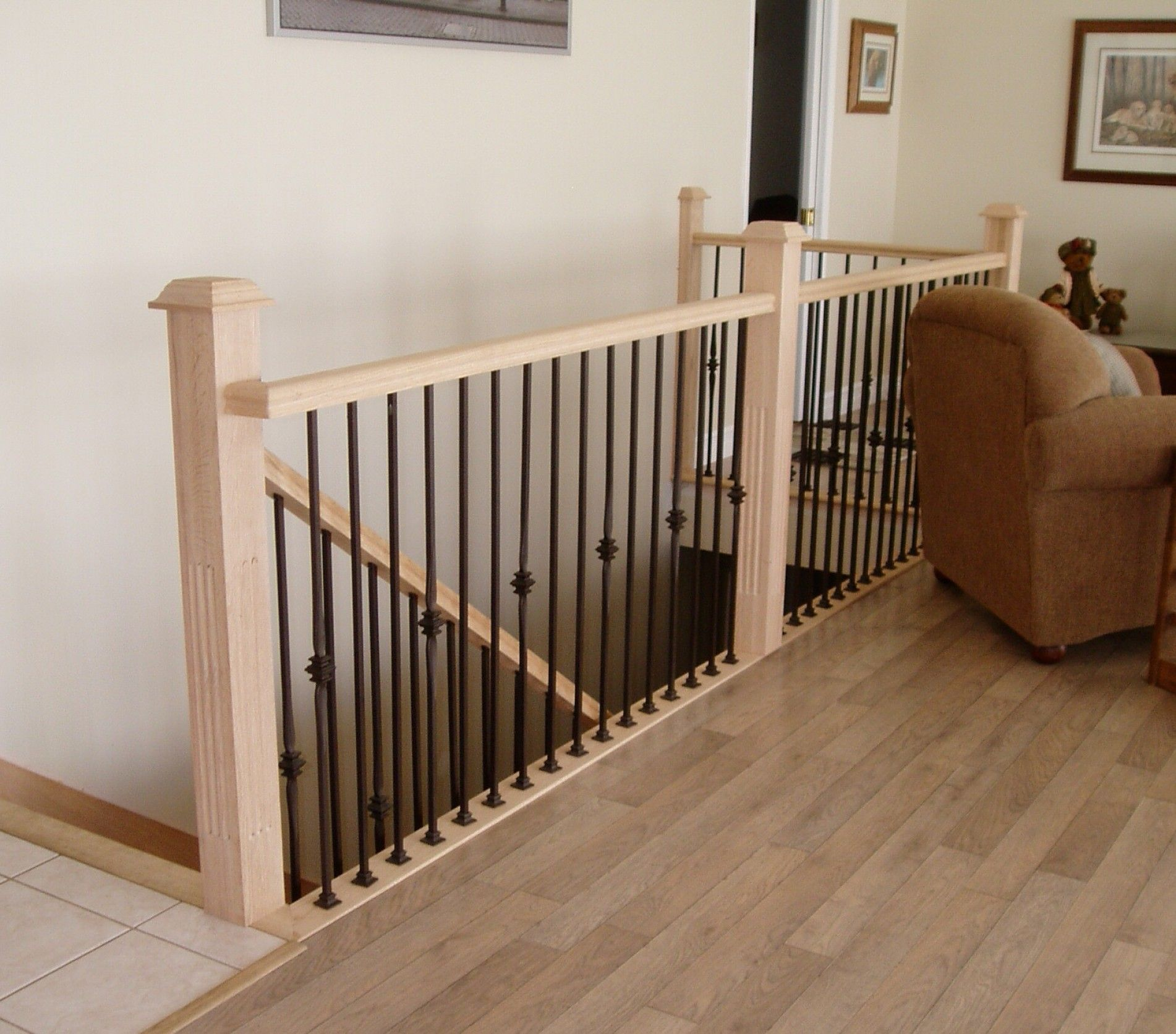 Interior Stair Railing Kits Inspiration And Design Wood Home Brown Wooden Stack Loft