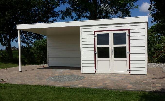Garage Met Veranda : Kunststof tuinhuis met veranda kunststof blokhut met veranda