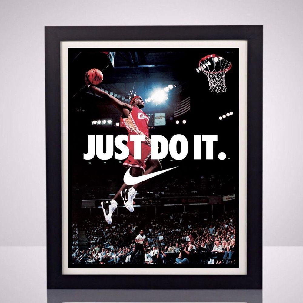 Nike Lebron James Cleveland Cavs Sports Memorabilia Poster