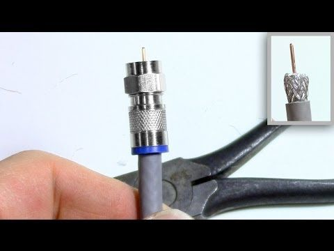 Coax TV Cable stripping connector install - Compression ...