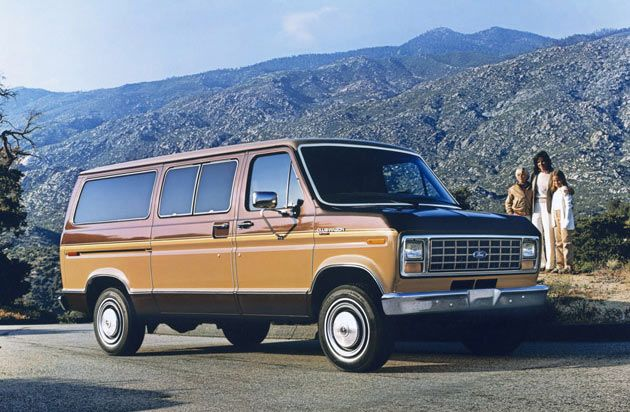 My Dad Had A Ford Econoline Just Like This With A Refrigerator And