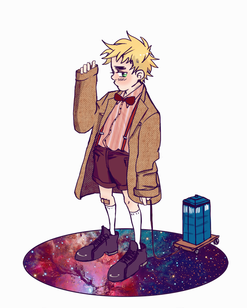 Little Kirkland dressed as doctor who