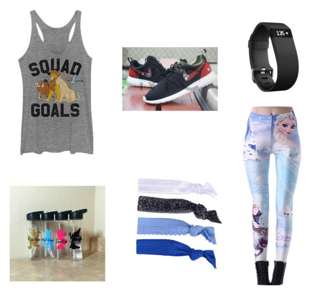 """""""Disney Inspired Workout Clothes"""" by omatthews on Polyvore featuring Disney, Glam Bands and Fitbit"""