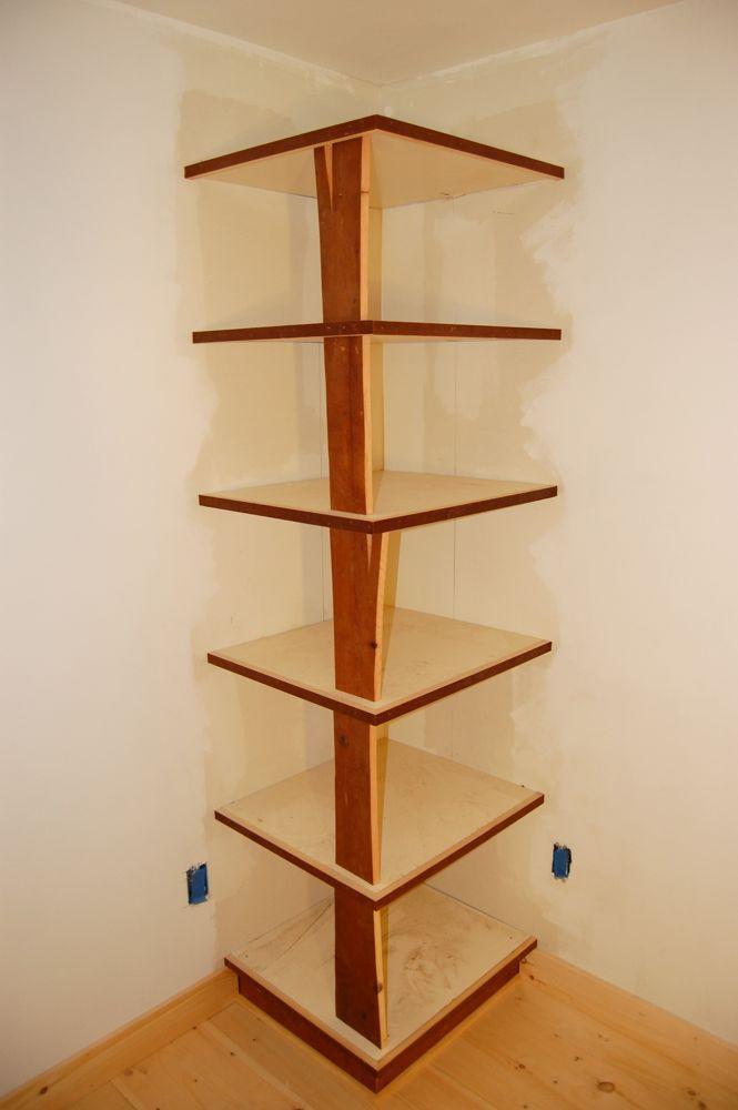 Plans To Build A Corner Bookcase Wooden PDF Knockdown Bookcase ... Diy Corner  Shelf