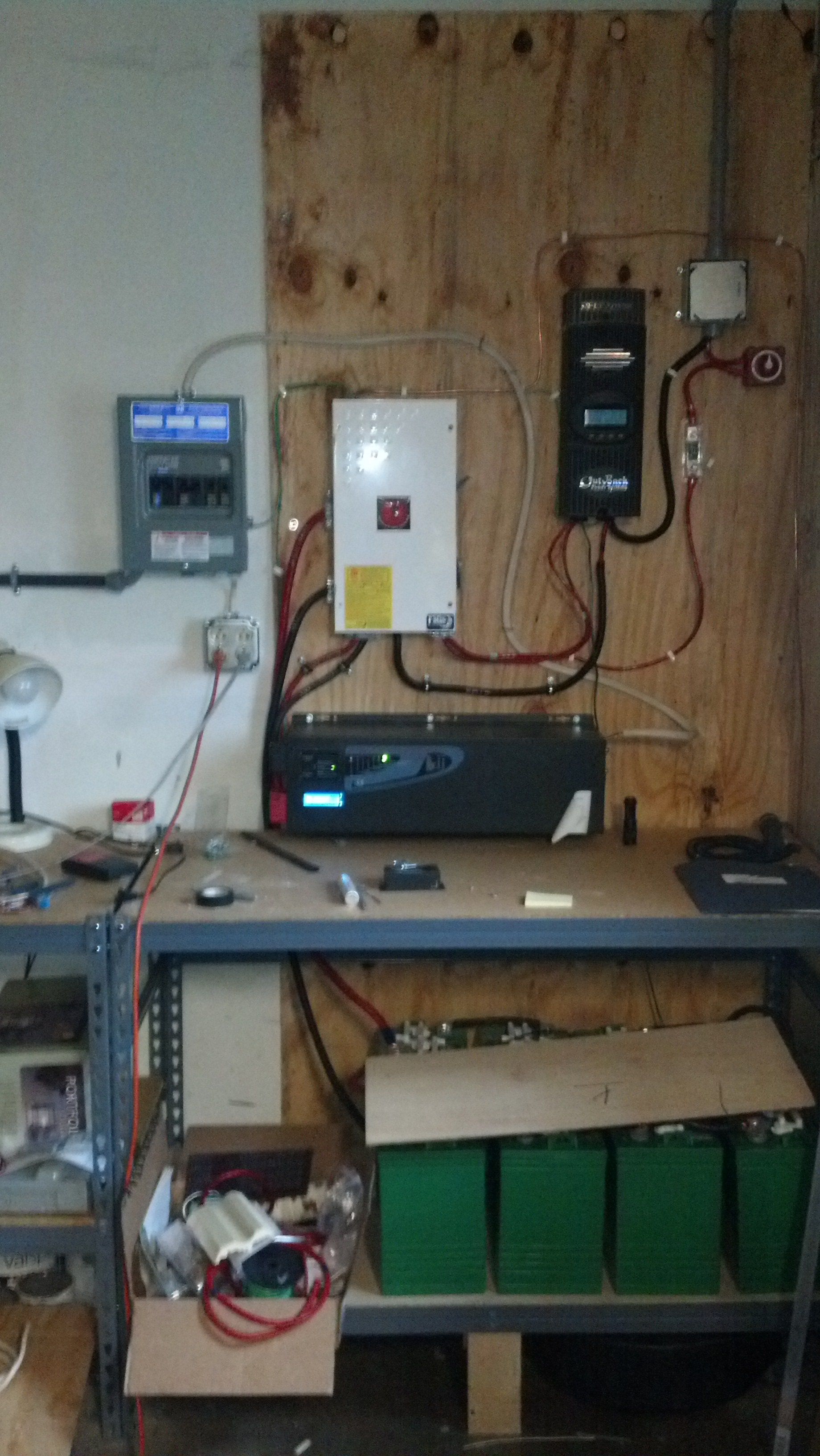 48 volts @ 80 amps in, charge controller steps it down to 24