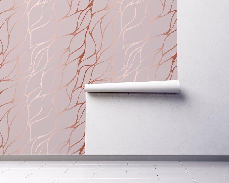 Pink Abstract Wallpaper Self Adhesive Wallpaper Decorative Etsy Self Adhesive Wallpaper Rose Gold Wallpaper Gold Wallpaper