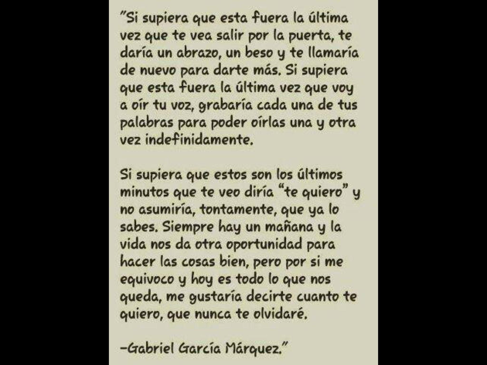 Carta de despedida de Gabriel Garca Márquez GaboFrases De AmorFrase BonitasFrases