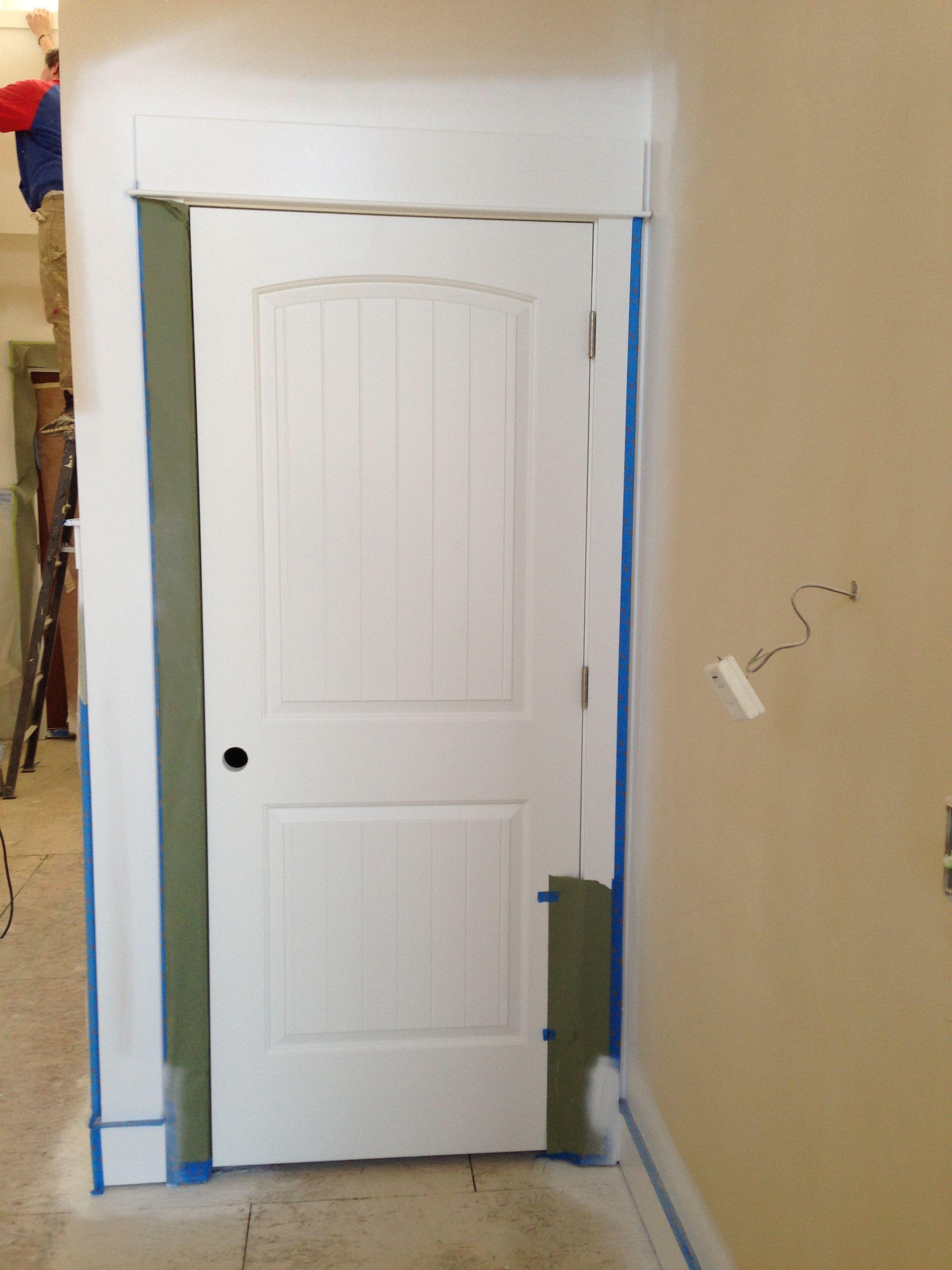 Beautiful 2 Panel Plank Door In Its Natural Environment Interior