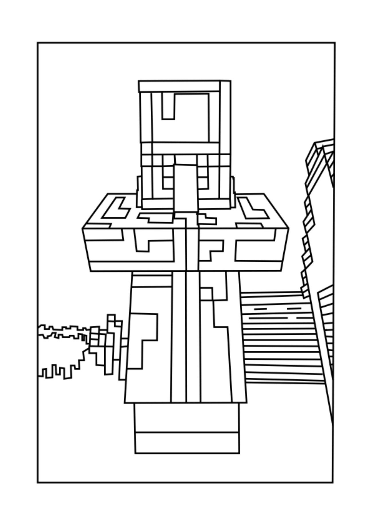 Pin on minecraft coloring page