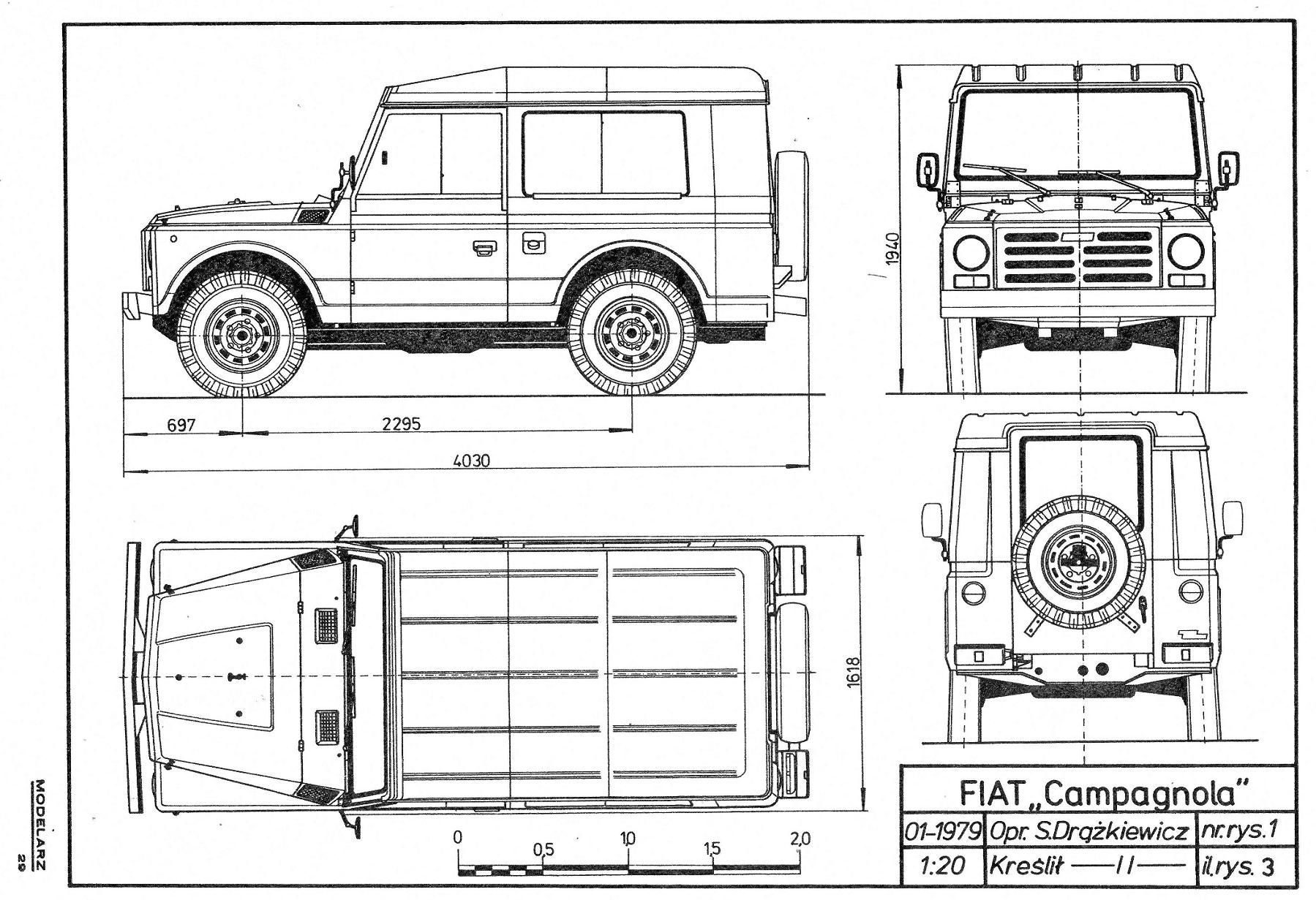 Fiat Campagnola Rc Cars Cars Coloring Pages Car