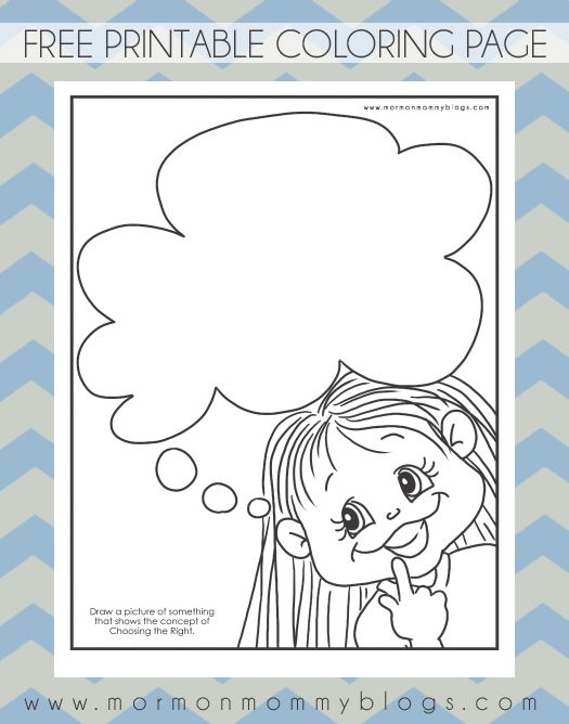 Thinking of Choosing the Right Coloring Page | Mormon Mommy ...