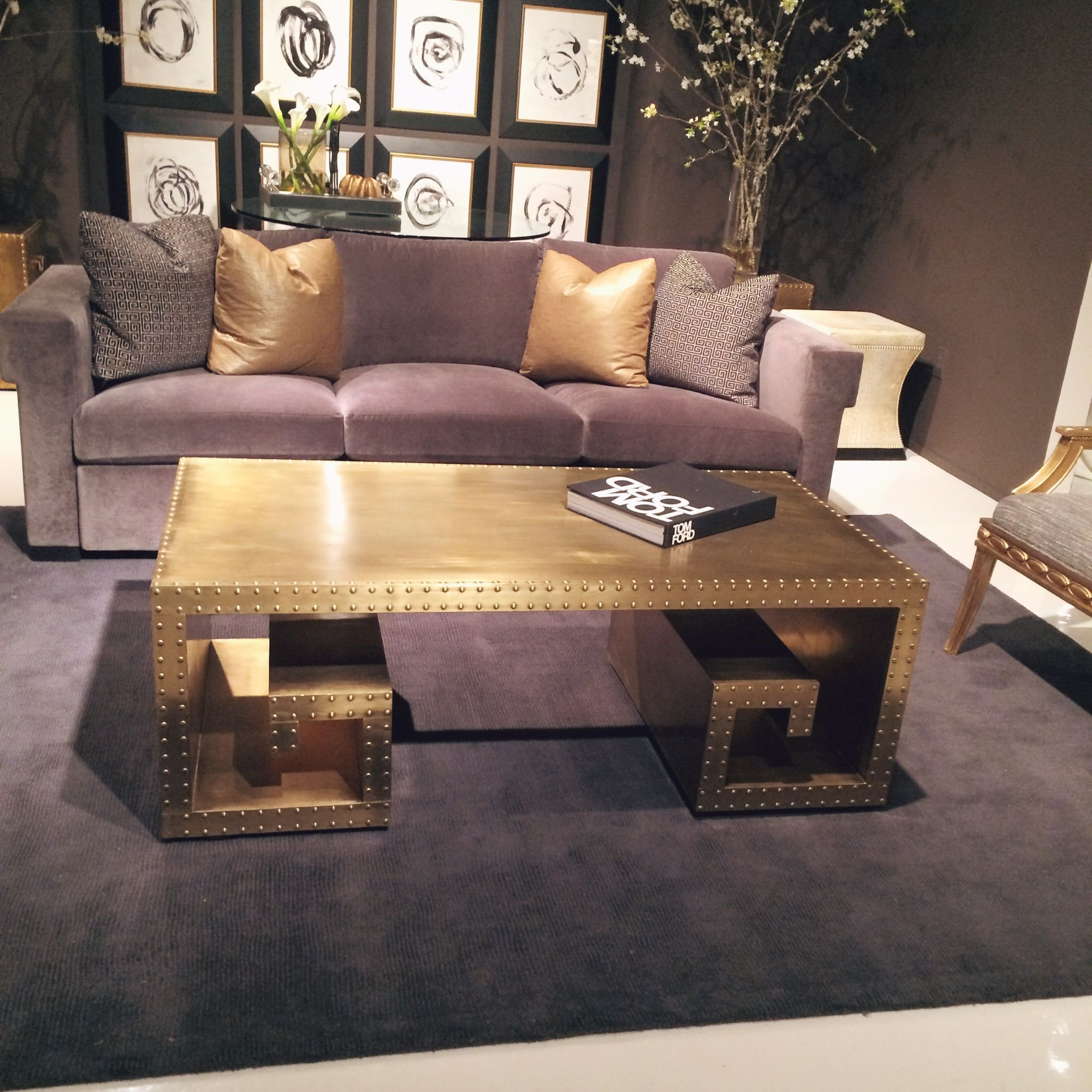 This riveted brass greek key coffee table at bernhardt furniture this riveted brass greek key coffee table at bernhardt furniture is fabulous spotted lots of geotapseo Gallery