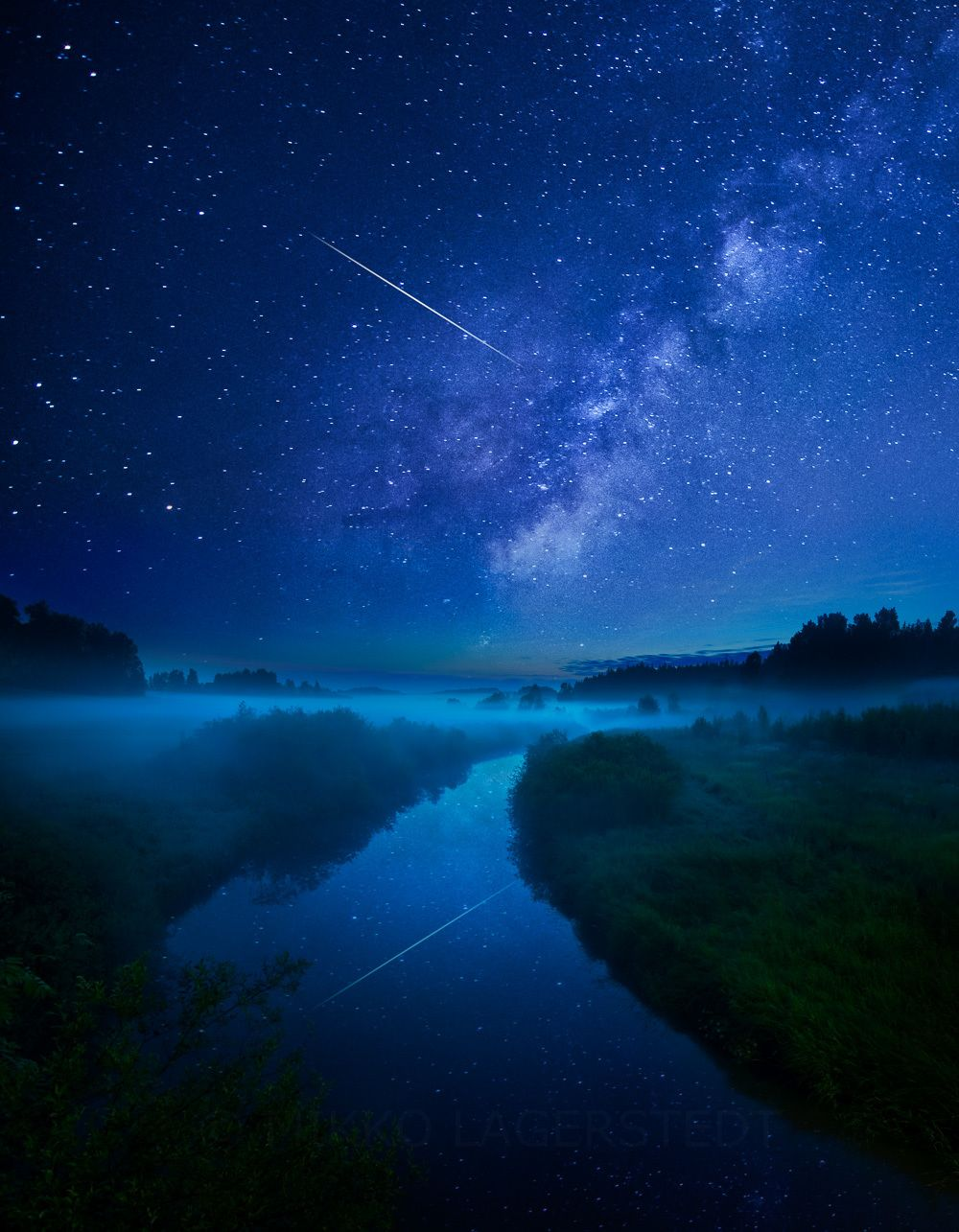 Night River By Mikko Lagerstedt Night Skies Landscape Photography Breathtaking Photography