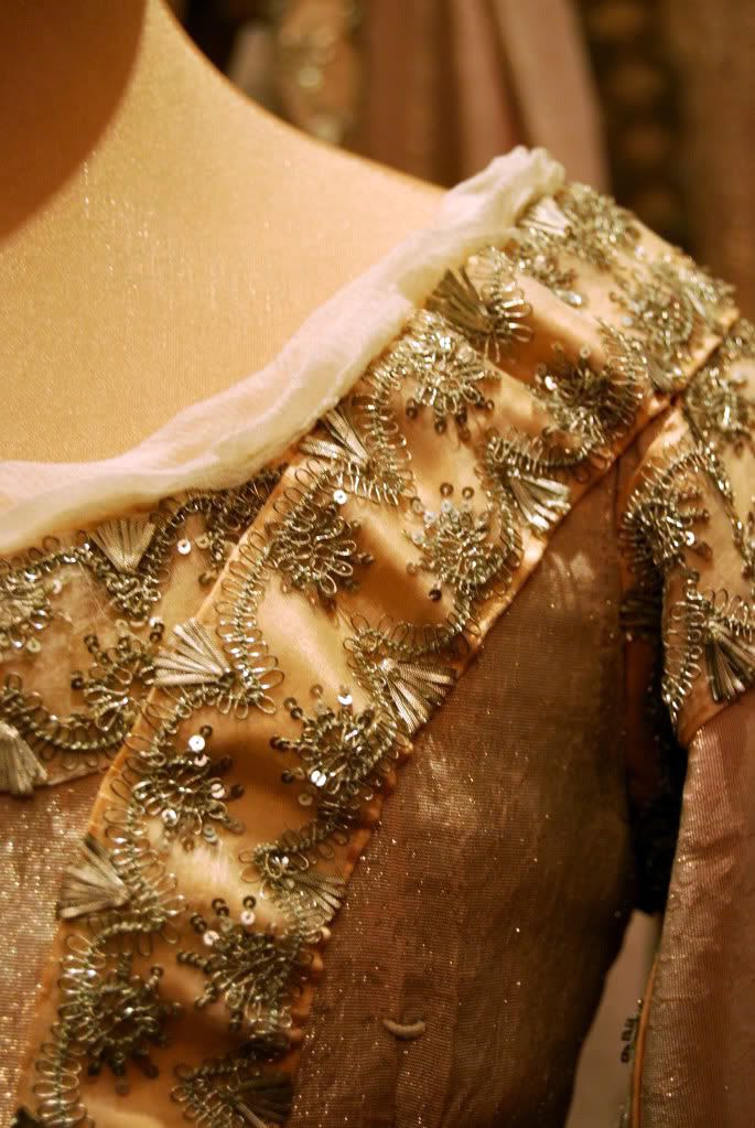 Detail of gown worn by Grand Duchess Anastasia