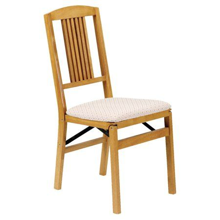 Folding Dining Chairs Padded.Hardwood Simple Mission Folding Chair Oak In 2019