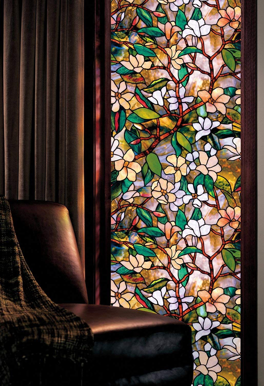 Amazon Com Artscape 01 0113 Magnolia Window Film 24 X 36 Home