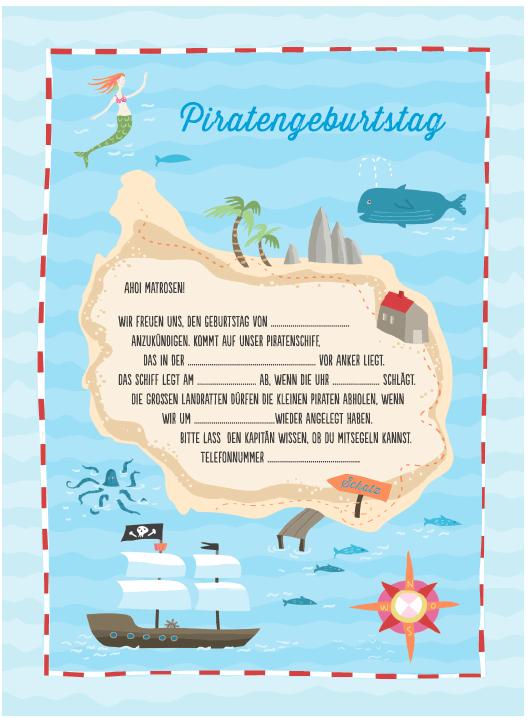 spiele-trickkiste downloads | kindergeburtstag piraten, einladung, Einladungsentwurf