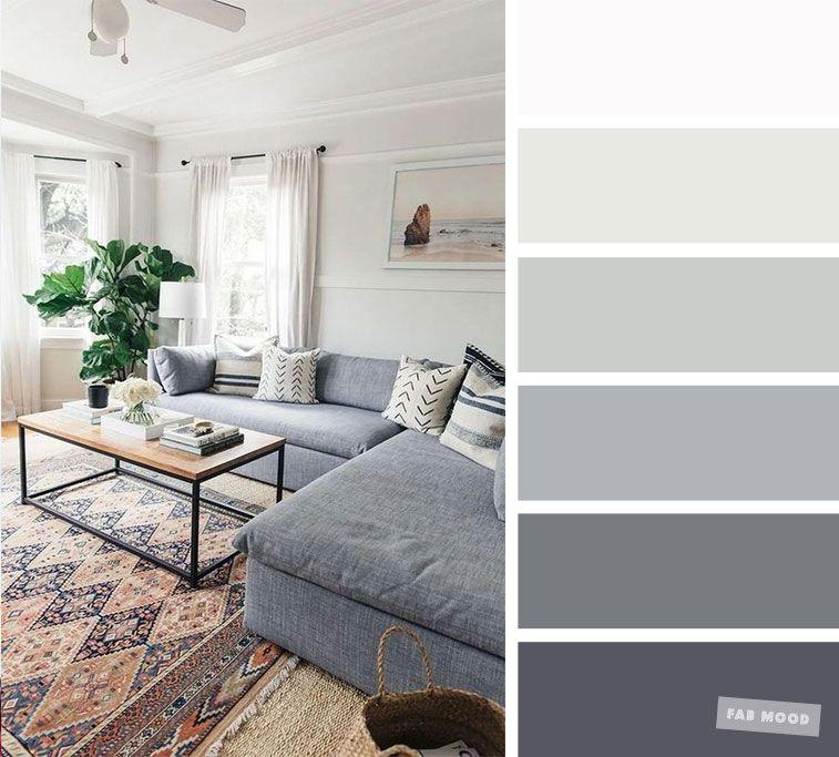 The Best Living Room Color Schemes Grey Palette Living Room