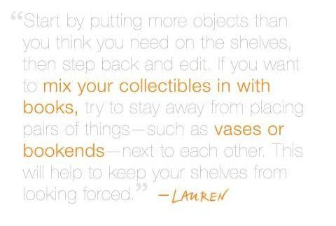 how to dress a shelf