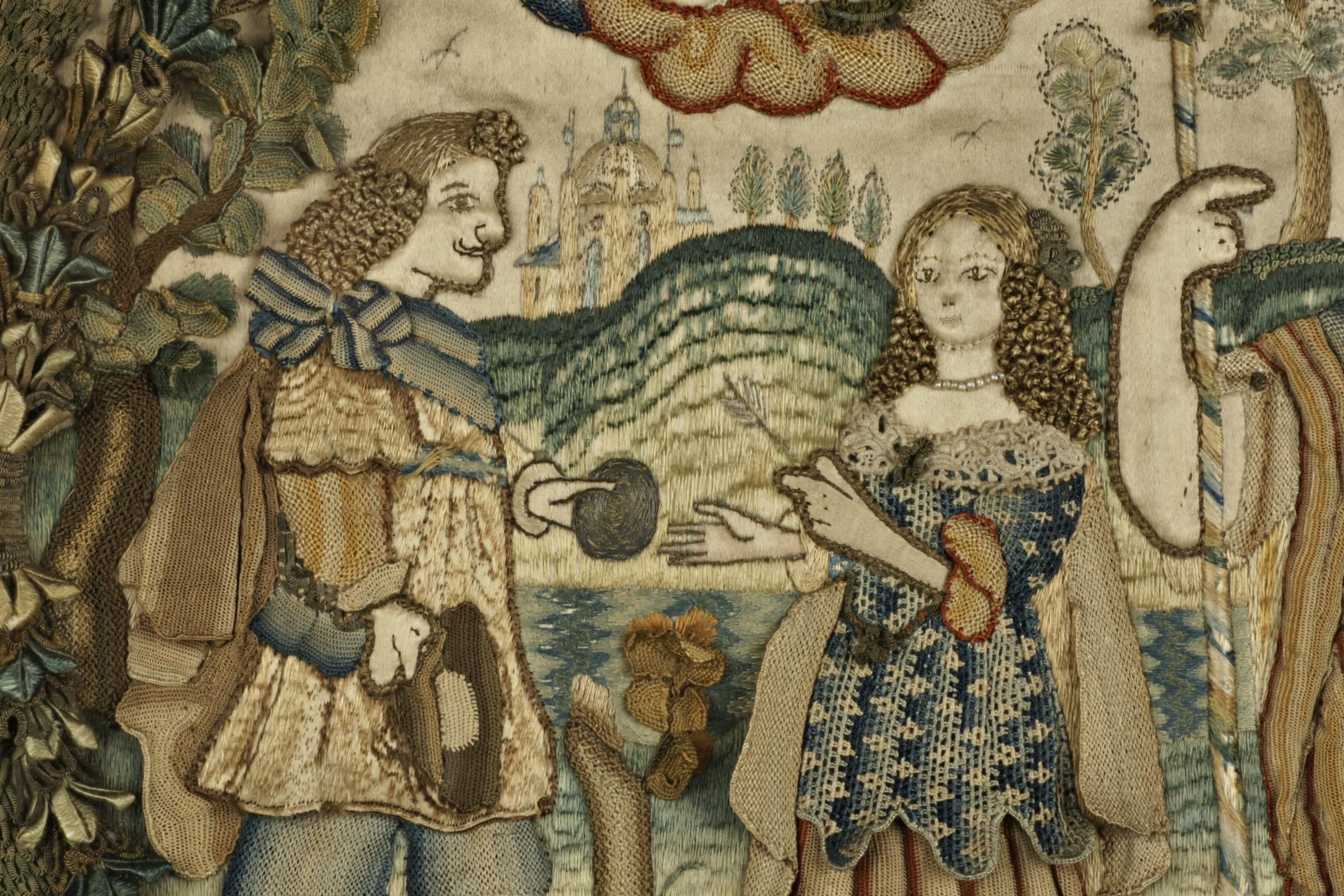 Seventeenth century embroidery from the feller and ashmolean