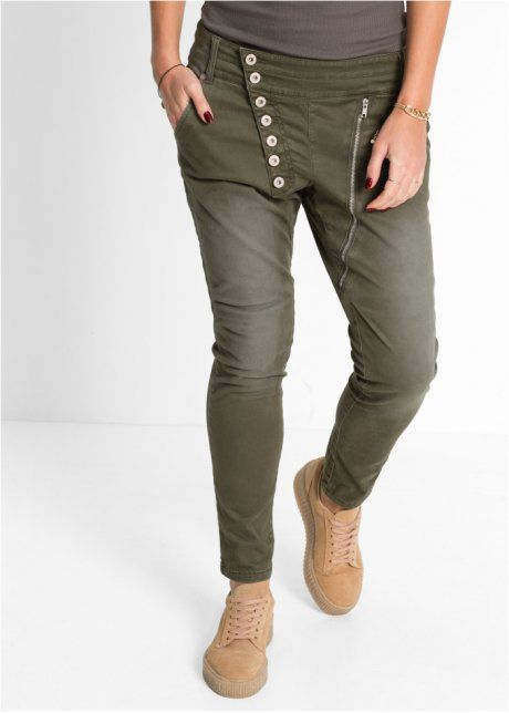De Patte Boutonnage 2019 Asymétrique Pantalon Avec Extensible En b7g6yf