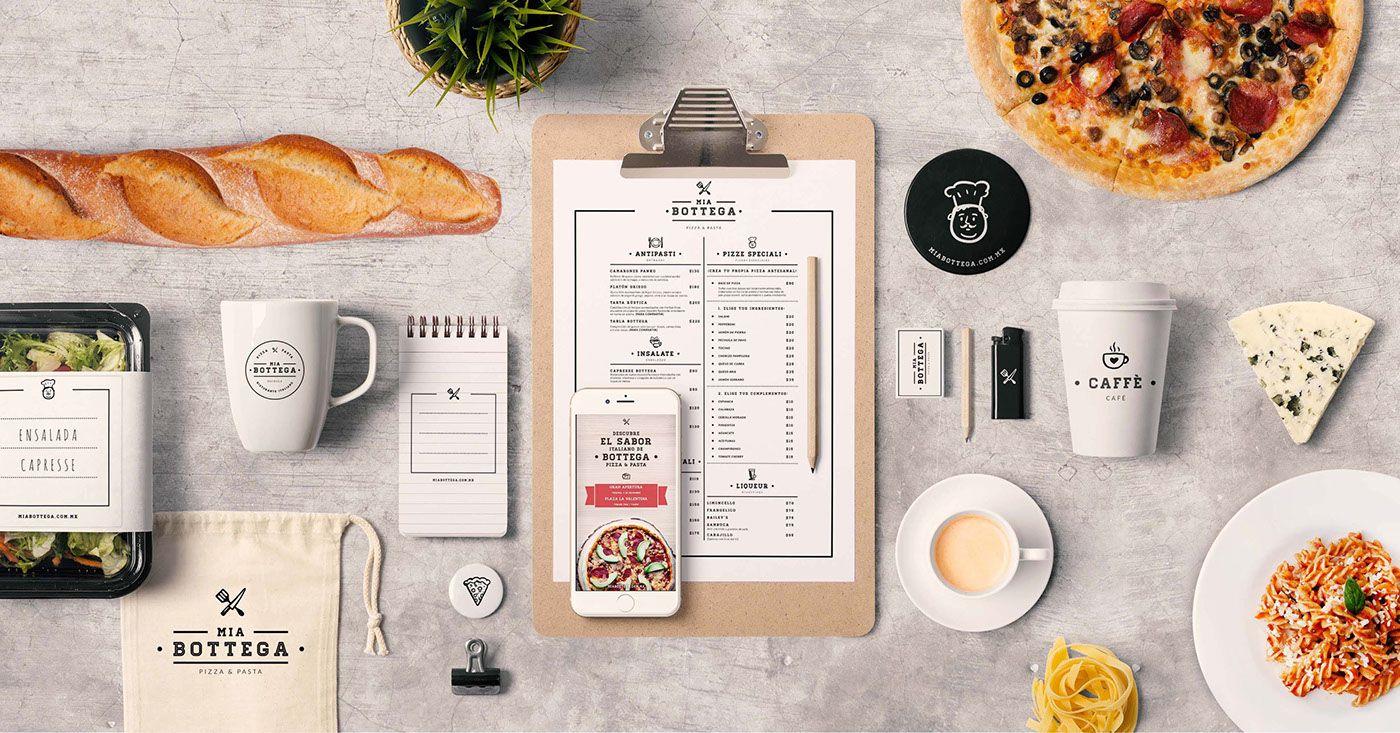 """다음 @Behance 프로젝트 확인: """"Mia Bottega Ristorante - Pizza & Pasta"""" https://www.behance.net/gallery/31394993/Mia-Bottega-Ristorante-Pizza-Pasta"""