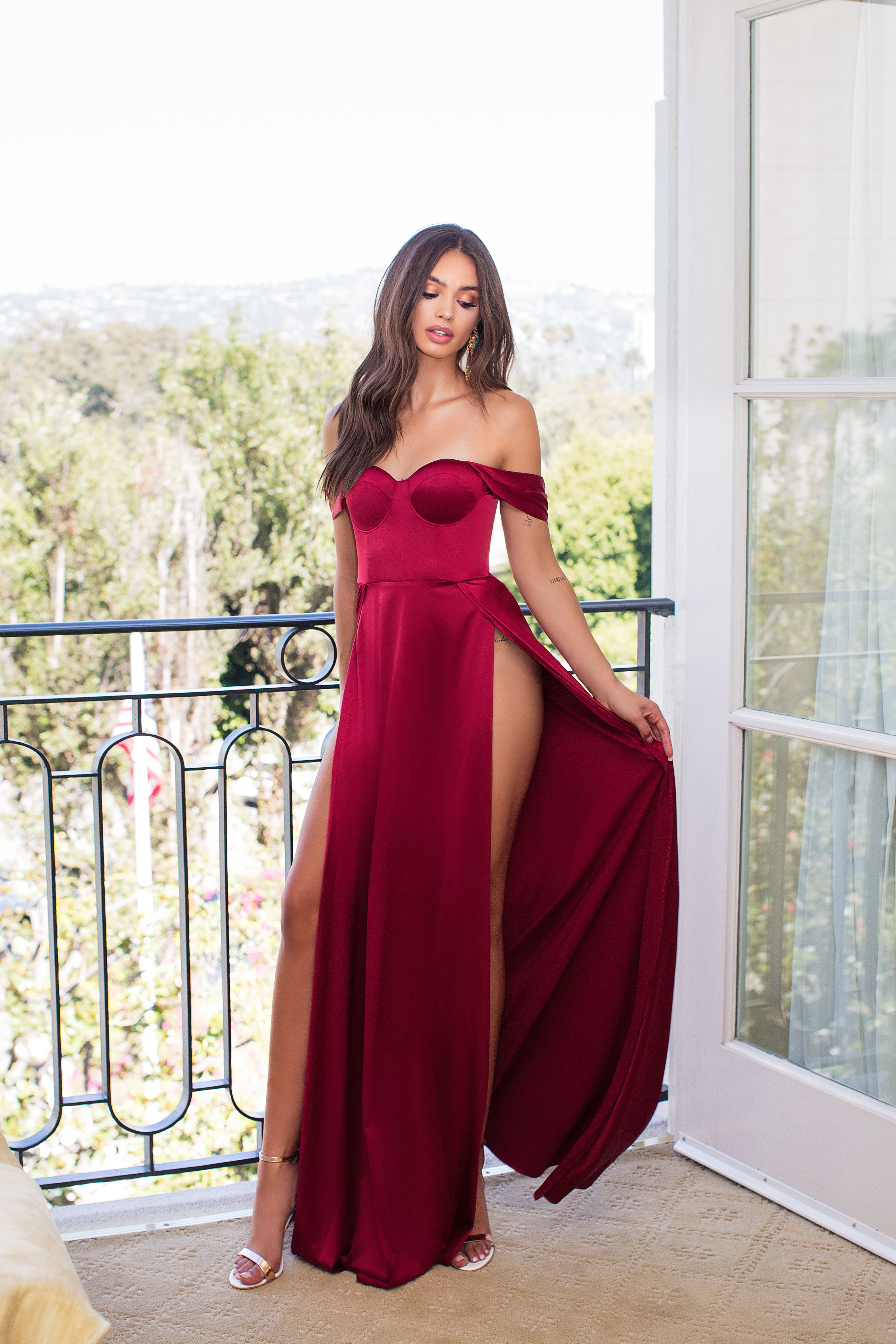 Dominikia Deep Red Red Dress Dresses Grammy Dresses