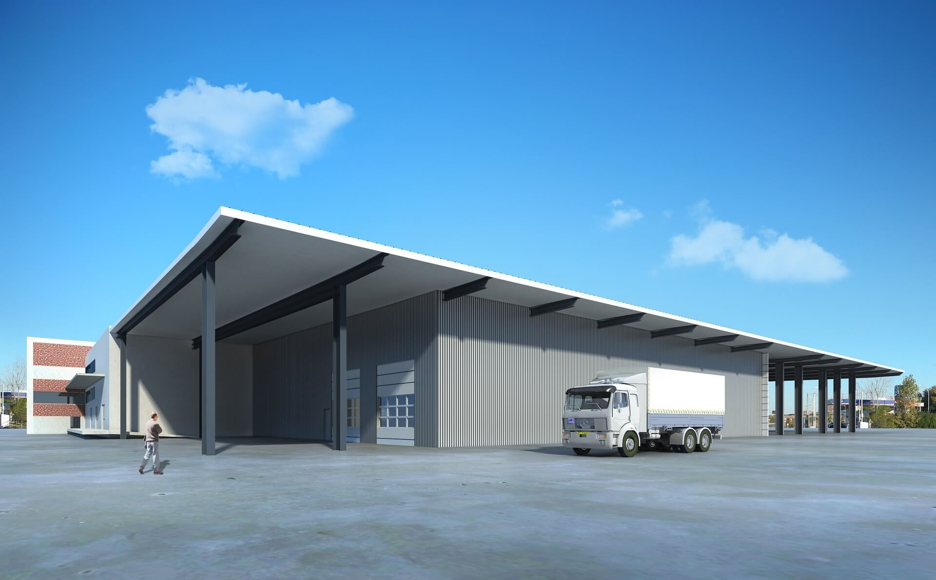 Click Here To View Large Storage Space And Warehouses In Dubai Http Bit Ly 1usombg Wa Commercial Steel Buildings Steel Structure Buildings Steel Buildings