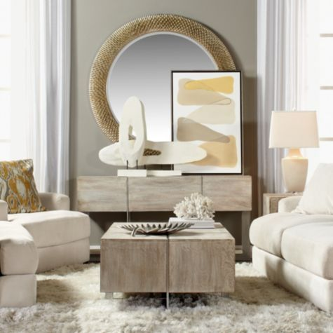 Bergmann Mirror From Z Gallerie 32 Or 54 Diameter For Over The Fireplace