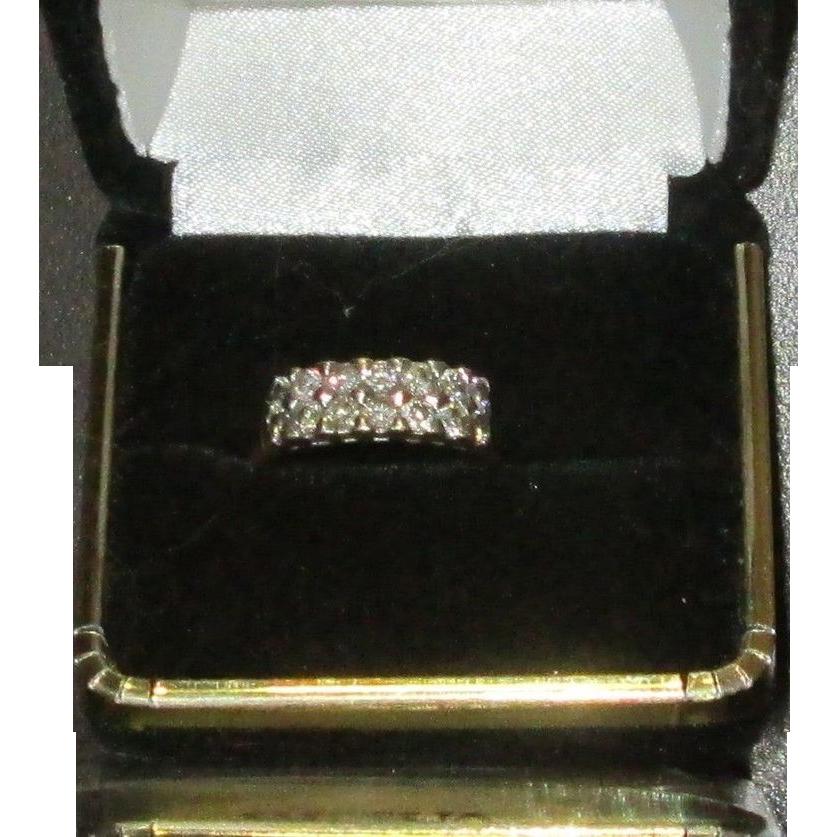 Vintage .98 Carat VS-Si1 G Diamond 18K White Gold Ring, 1960s