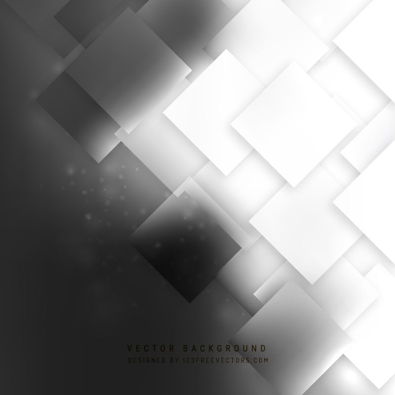 Abstract Black And White Square Background Design Background