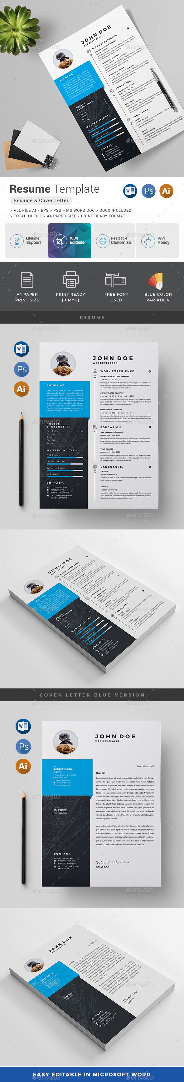 Pin By Fdesign Nerd On Resume 2018 Resume Design Template Best