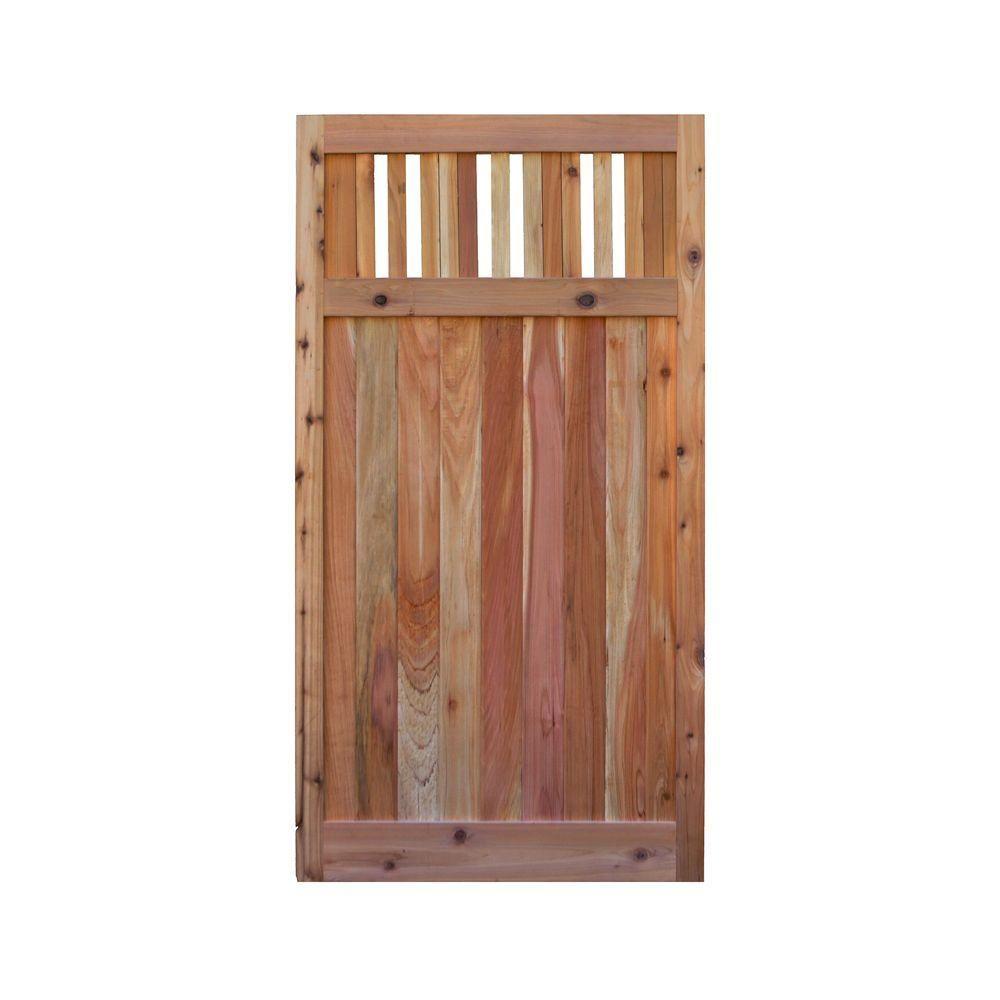 Signature Development 3 Ft X 6 Ft Western Red Cedar Flat Top Vertical Lattice Fence Gate 36x68 5x1 5vgat The Home Depot Lattice Fence Fence Gate Wood Fence