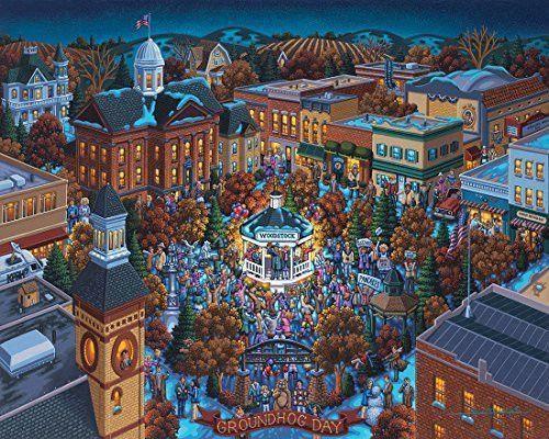 Jigsaw Puzzle - Groundhog Day 500 Pc By Dowdle Folk Art