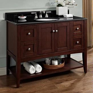 "Fairmont Designs Shaker Americana 48"" Open Shelf Vanity 1512-VH48/1513-VH48 :: Bath Vanity from Home & Stone"