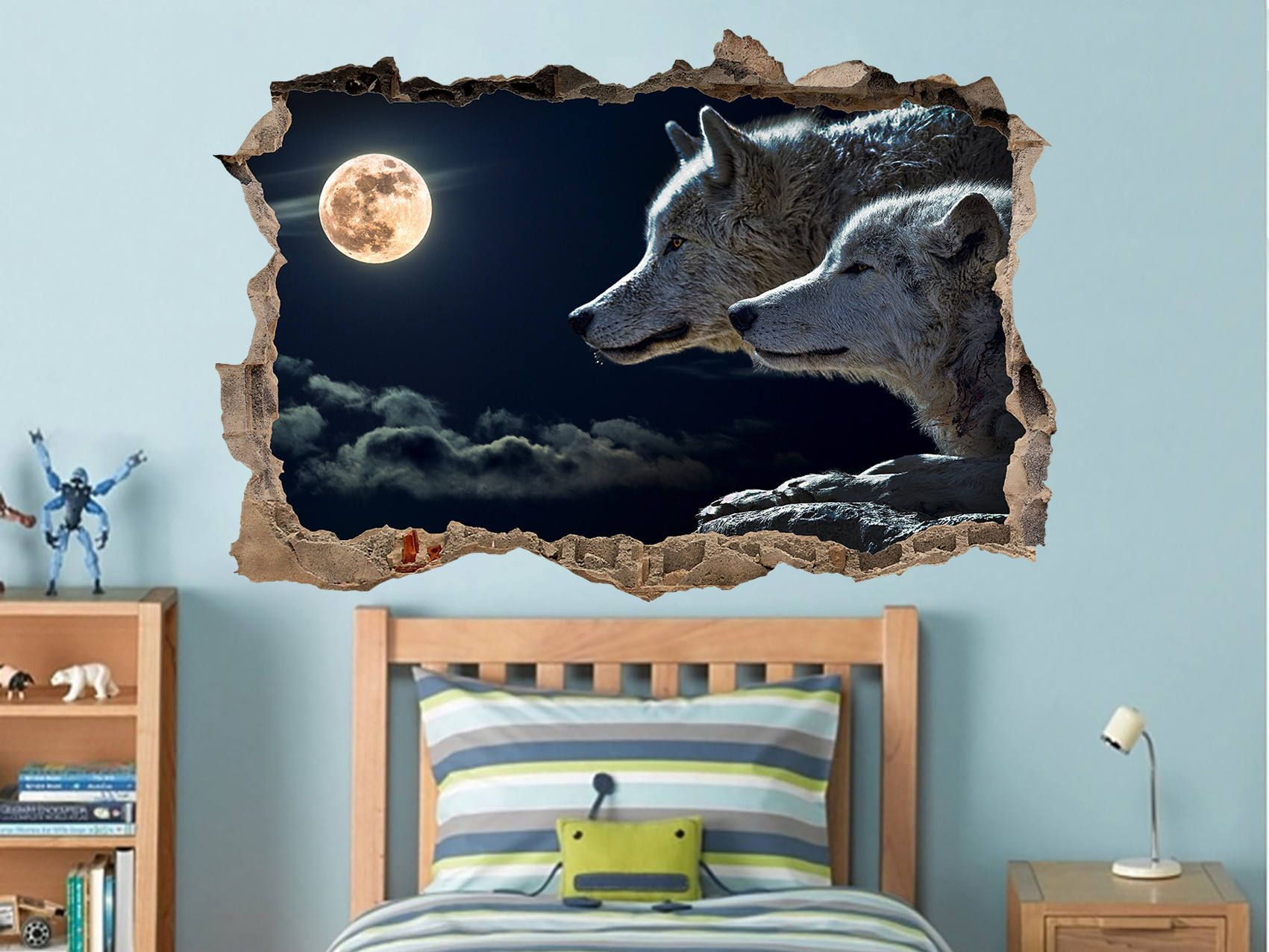 Pin On 3d Wall Decal Animals Wildfire