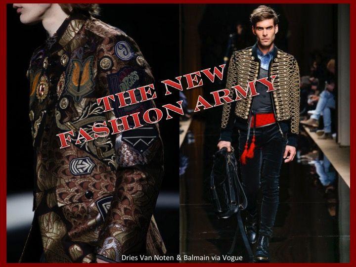Trim Queen Blog - Embellishment in Menswear: Balmain, Dries Van Noten, Dolce & Gabbana