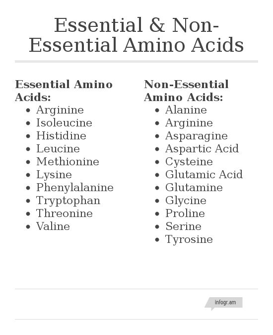 Essential And Non Essential Amino Acids Chart  Live Strong Live