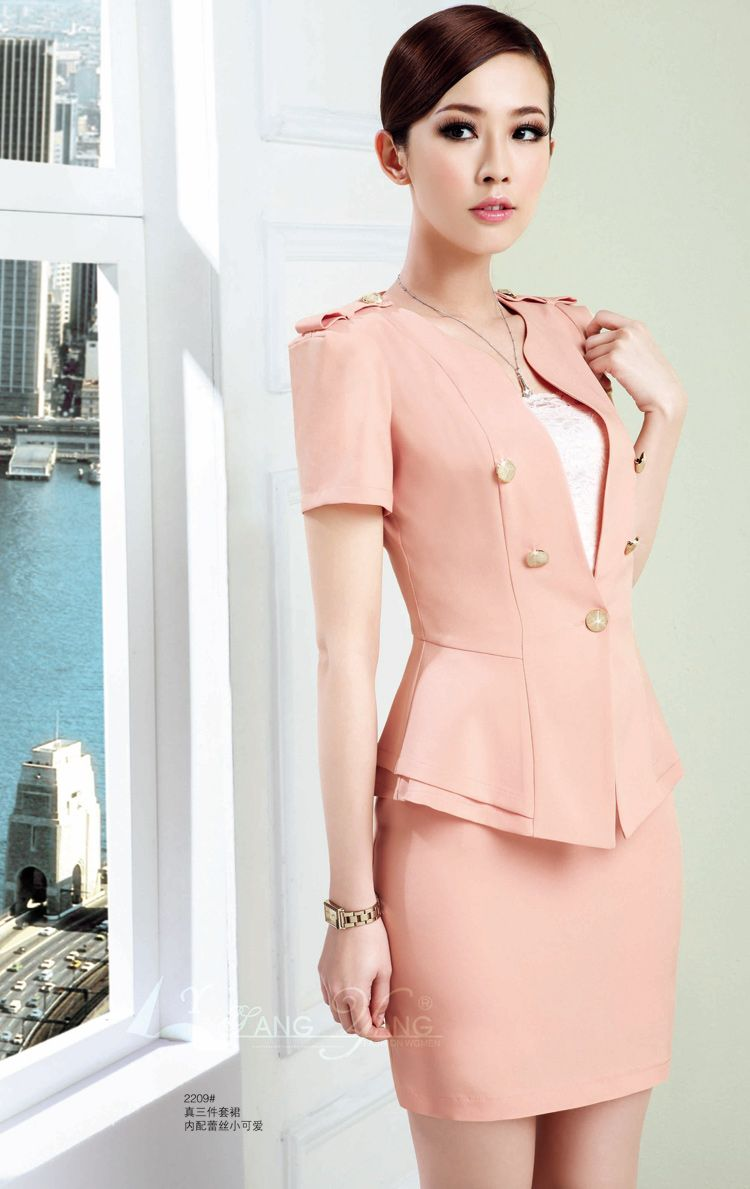 women in suit light pink | women suits | Pinterest | Pink, Skirts ...